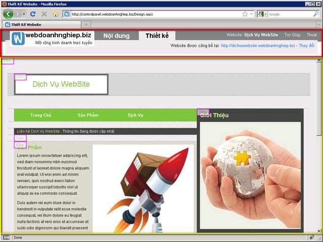 Màng hình trang thiết kế web