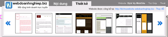 Danh sách các mẫu thiết kế web đang có ở webdoanhnghiep.biz